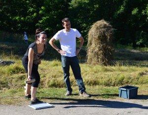 Italialainen Elena Molina ja ranskalainen Martin Baptiste osallistuivat mölkkykisaan ja sijoittuivat toiseksi. Kisavoiton uusivat Lauritsalaln kauppalan pojat.